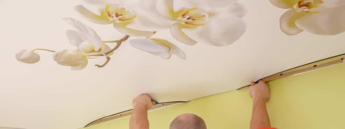 spanplafond met print bloem